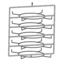 Hatco FSDT5TCR 5-Tier Circle Rack with Pizza Pan Retainers
