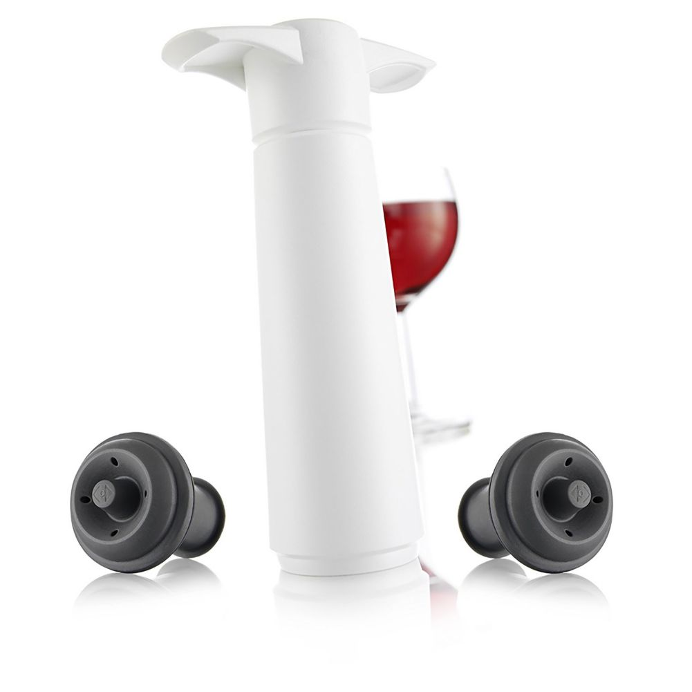 Vacu Vin 09812606 Gift Boxed Wine Saver Pump Set with 2 Stoppers