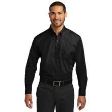 Chefwear® 1337-30 2XL Mens Black Long Sleeve Popliin Shirt