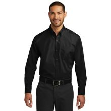 Chefwear® 1337-30 S Mens Black Long Sleeve Popliin Shirt