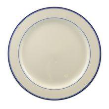 "Homer Laughlin 2061085 Blue Band 9.63"" Round Plate - 24 / CS"