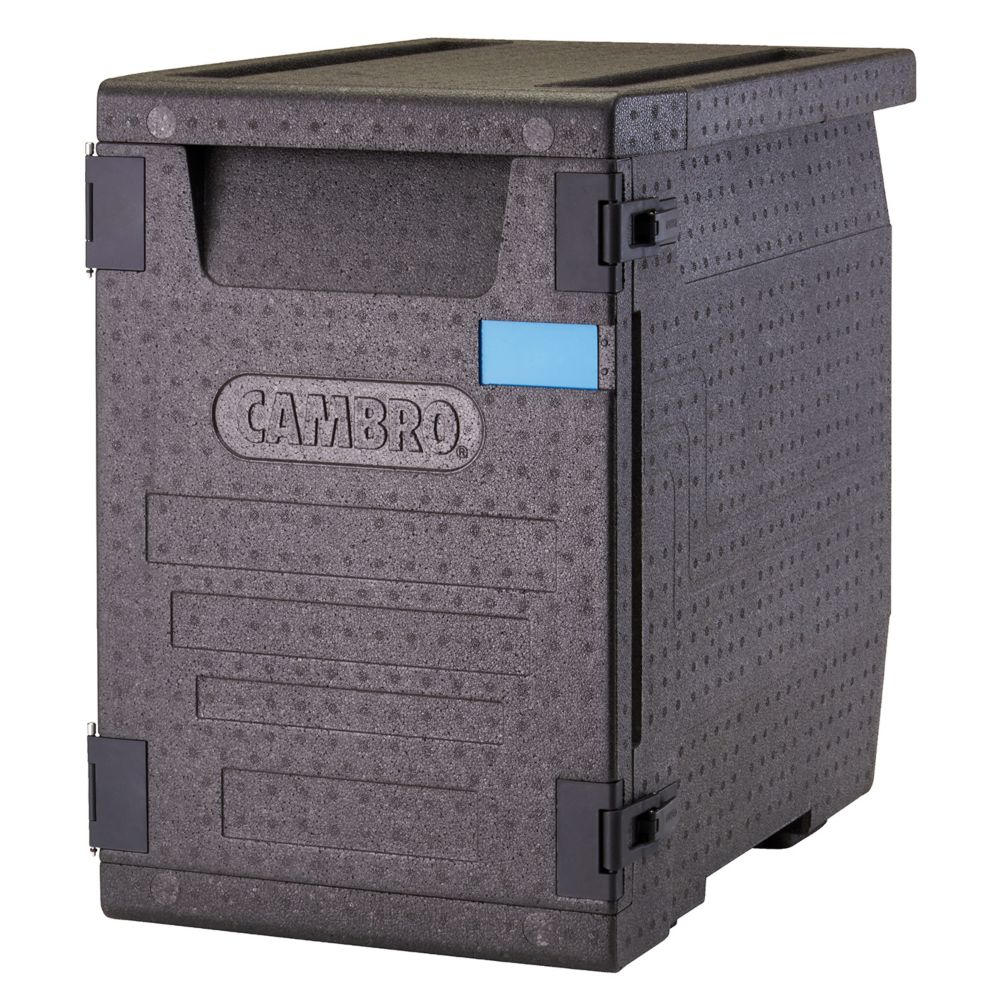 Cambro EPP400110 Black Front Loading Cam GoBox™ Catering Box