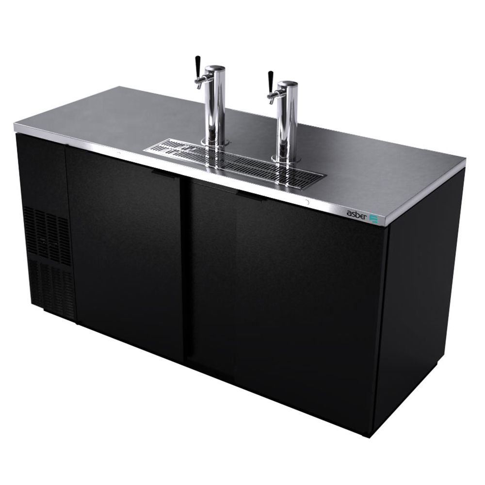 Darling Food Service Black 2-Door 68