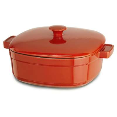 KitchenAid KCLI60CRAU Streamline Cast Iron 6 Quart Casserole