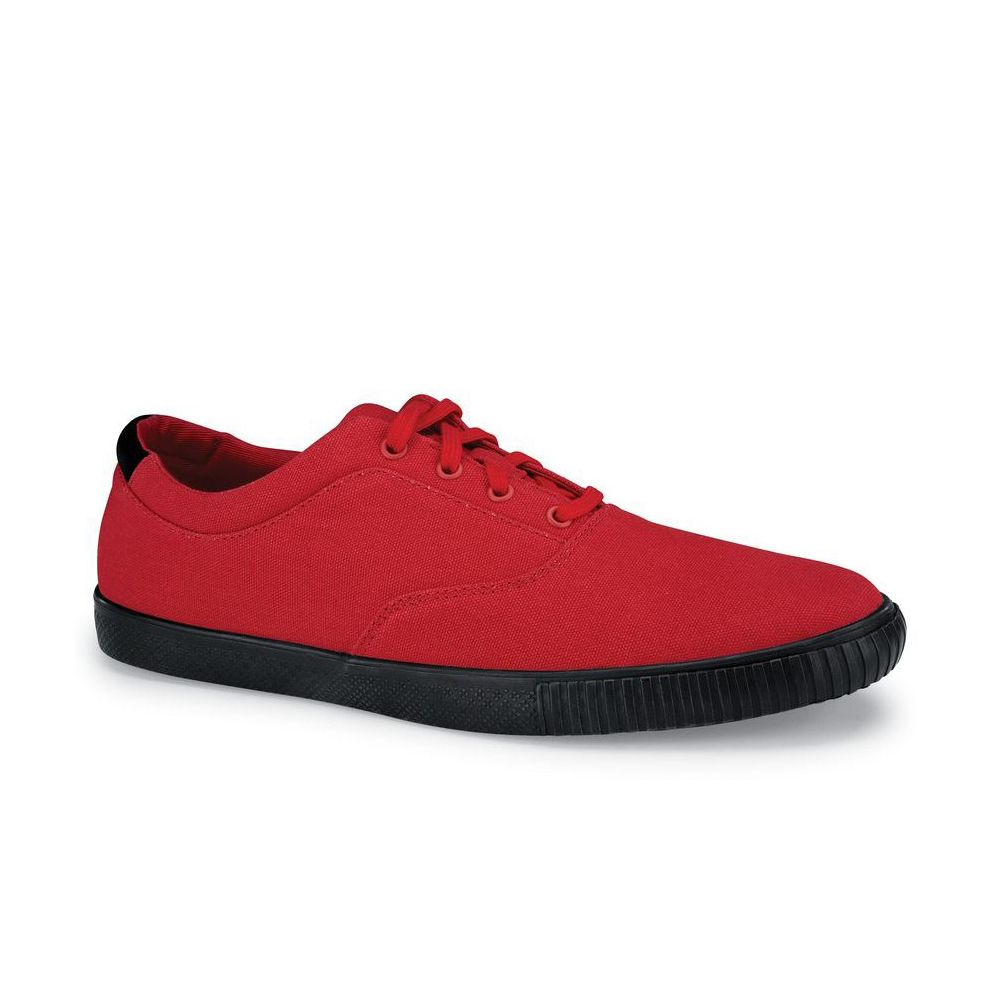 Chefwear CW7320-10 Mens Size 10 Water-Resistant Red Canvas Shoe - Pair