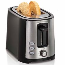 Hamilton Beach 22633 Black 2-Slice Wide Slot Toaster