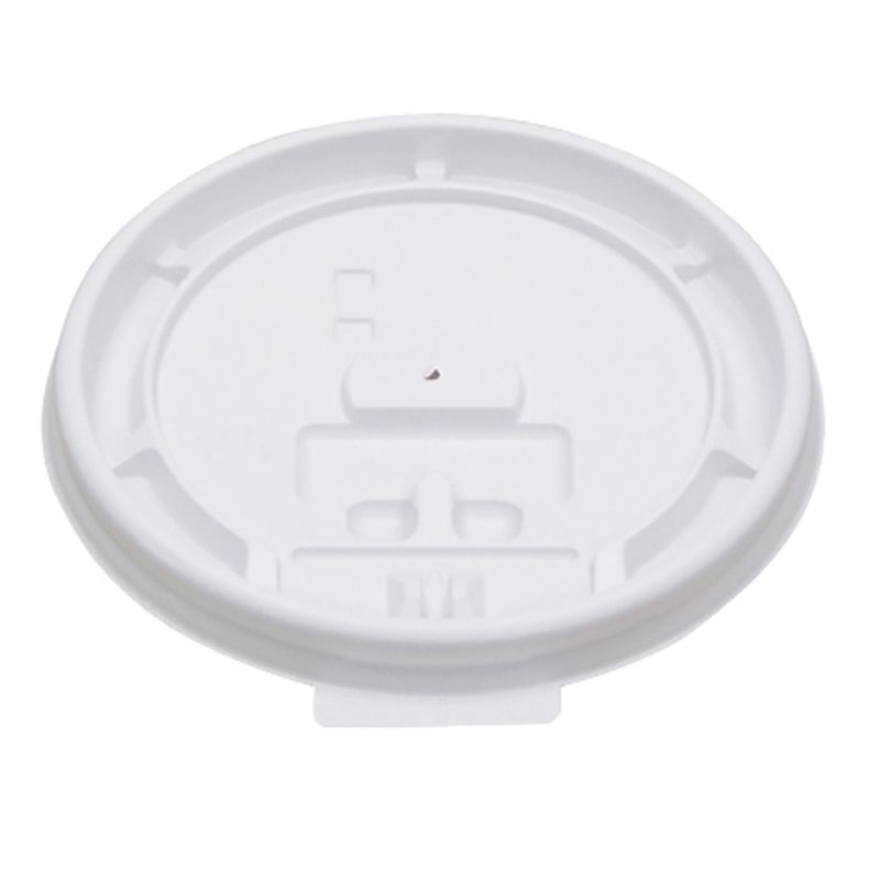 Pactiv DDL4WD White Dome Lid for 4 Ounce Cup - 1000 / CS