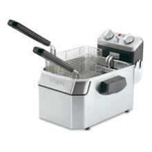 Waring Commercial WDF1000B Heavy-Duty 208V Single 17 lb. Deep Fryer