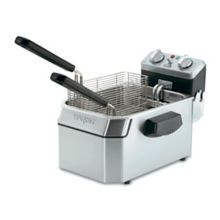 Waring Commercial WDF1500B Heavy-Duty 208V Single 15 Lb. Deep Fryer