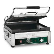 Waring Commercial WDG250T 120V Italian Style Panini Grill with Timer