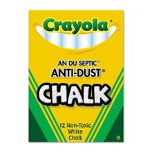 Crayola® CYC510402 Non-Toxic Anti-Dust® White Chalk