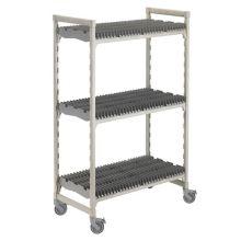 Cambro® CPMU244875DRPKG Gray 3-Shelf Mobile Drying Rack