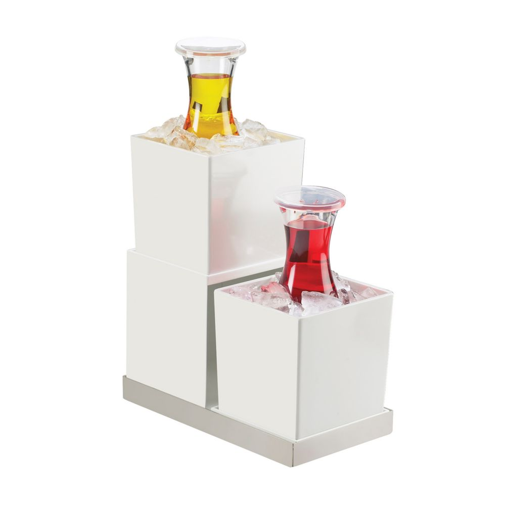 Cal-Mil 3004-55 Luxe White 2-Step Display