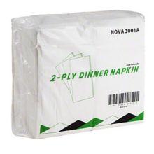 R.J.Schinner NOVA 3001A White 1/8 Fold 2-Ply Dinner Napkin - 3000 / CS