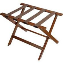 Central Specialties 177DK Walnut Finish Deluxe Luggage Rack