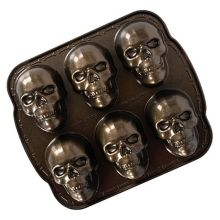 Nordic Ware - Food Service 89448 Haunted Skull Cakelet Pan - 3 / CS