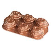 Nordic Ware - Food Service 90937 Tiered Heart Cakelet Pan - 3 / CS