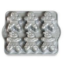 Nordic Ware - Food Service 86948 Gingerbread Kids Cakelet Pan - 3 / CS
