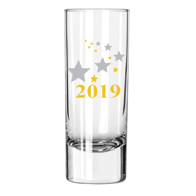 Libbey 9568869/29449 2019 Celebration 2 Ounce Shot Glass - 24 / CS