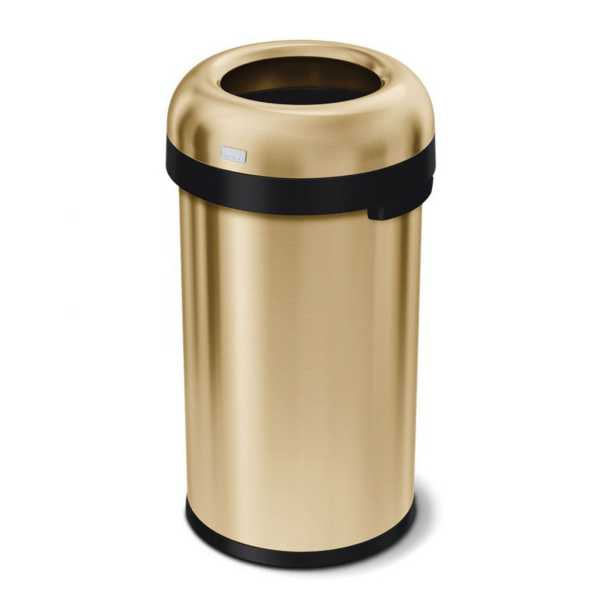 simplehuman CW1488 Brass S/S 6 Gallon Bullet Style Trash Can