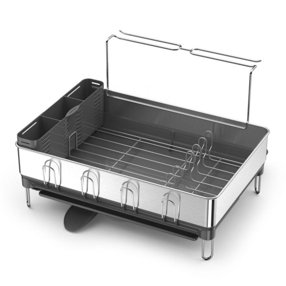simplehuman KT1154 Dish Rack with Steel Frame