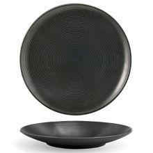 """FOH® DSP022BKP22 Spiral® Ink 9.5"""" Round Plate - 6 / CS"""