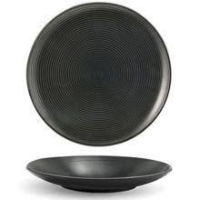 """FOH® DSP008BKP23 Spiral® Ink 8"""" Round Plate - 12 / CS"""