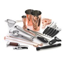 Mercer Culinary M37102CP Barfly® Copper Plated Deluxe Bar Set