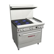 "Southbend 4361D-1GR/ WITH CASTERS 36"" 4-Burner Natural Gas Range"