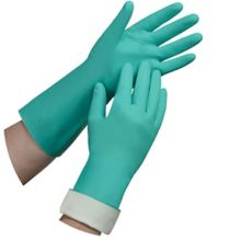 Tradex Intl NTL650L Large Lined Green Nitrile Glove - Pair