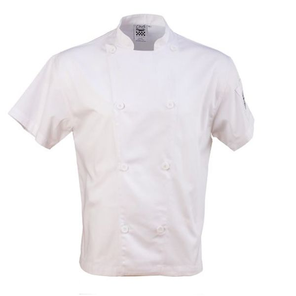 Chef Revival J205-L White Large Double Breasted Short Sleeve Chef Coat