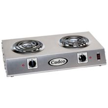 Cadco CDR-1T Electric 120V Double Hot Plate