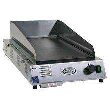 Cadco CG-5FB Medium-Duty Countertop Griddle with Backsplash