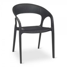 G & A 250 Black Resin Outdoor Stacking Oasis Chair