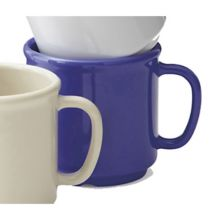G.E.T. S-12-PB Mardi Gras Peacock Blue 12 Oz SAN Coffee Mug - 24 / CS