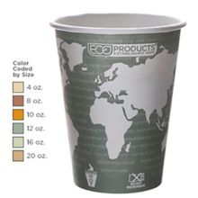 Eco Products EP- BHC4-WA World Art™ 4 Ounce Hot Cup - 1000 / CS