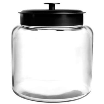Anchor Hocking 96710AHG17 Black 48 Ounce Montana Jar