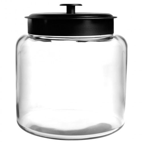 Anchor Hocking 96710AHG17 Black 48 Ounce Montana Jar - 4 / CS