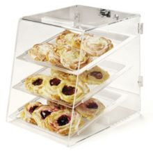 Carlisle SPD303KD07 Acrylic 3-Tray Pastry Display Case