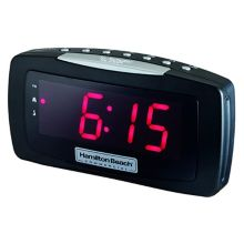"Hamilton Beach HCR330 AM / FM Clock Radio with 1.2"" LED Display"