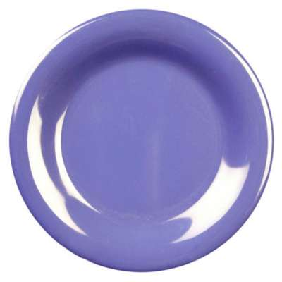 Thunder Group CR006BU Purple 6.5 Inch Round Wide Rim Plate