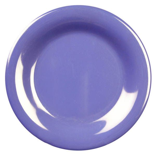 "Thunder Group CR006BU Purple 6.5"" Round Wide Rim Plate - 96 / CS"