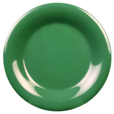 Thunder Group CR006GR Green 6.5 Inch Round Wide Rim Plate