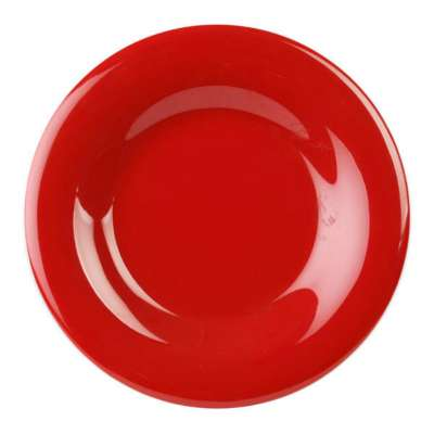 Thunder Group CR006PR Pure Red 6.5 In. Round Wide Rim Plate