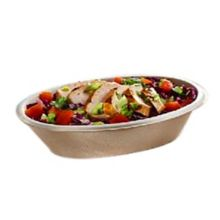 Sabert 4409270D300 Pulp 27 Ounce Oval Natural Burrito Bowl - 300 / CS