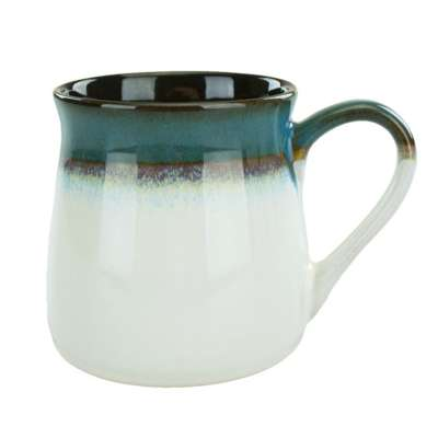 Intl Tableware 4416-159 Sioux Falls Blue / White 16 Oz. Mug
