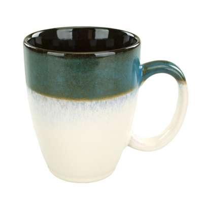 Intl Tableware 4415-159 Sioux Falls Blue / White 15 Oz. Cup