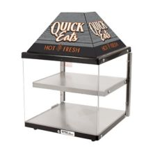 Nemco® GS1410 Countertop 2-Shelf Heated Food Merchandiser