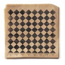 G.E.T. P-BKC-77-BR 7 x 7 Black / Brown Checker Paper Liner - 2000 / CS