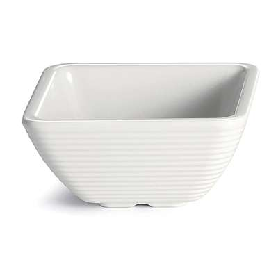 TableCraft RAMS4B Bone 4 Ounce Square Ribbed Melamine Ramekin